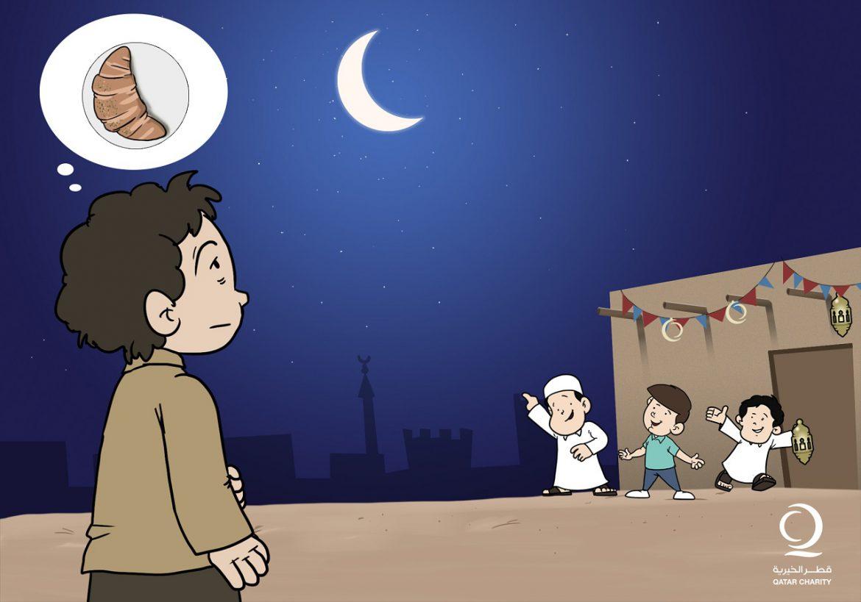 كاريكاتير : حلم طفل